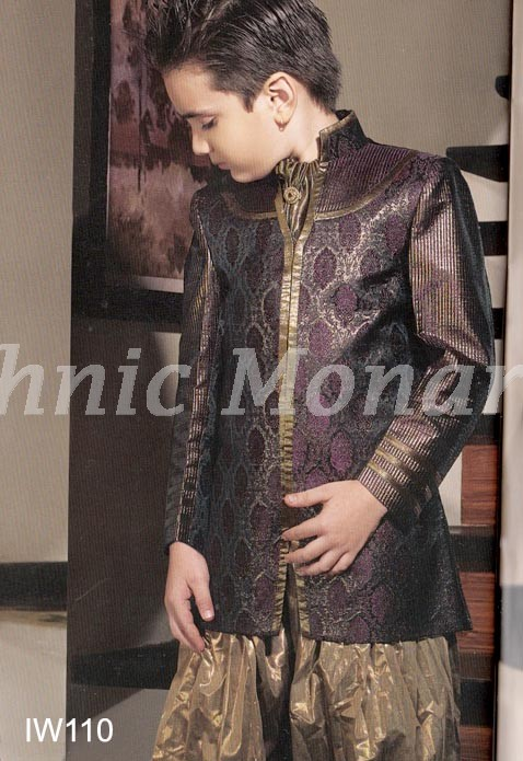Bronze Indo-Western with Patiala Salwar