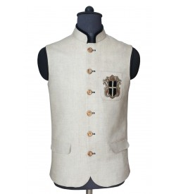 Grey Linen Nehru Jacket