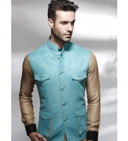 Modish Turquoise stylish jacket