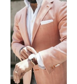 Peach Color Linen Blazers