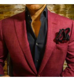 Light Maroon Linen Blazer