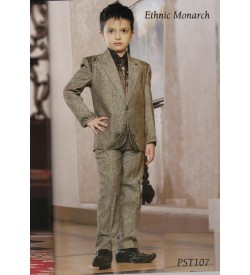 One Button Linen Party Wear Designer Suit