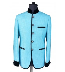 Royal Sky Blue Jodhpuri Coat