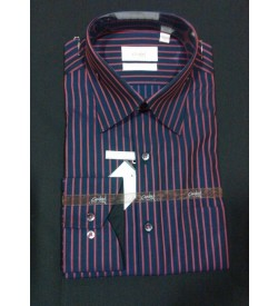 Red Blue Stripes 100% Cotton Shirt