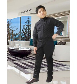 Black Nehru Shirt