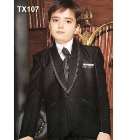 Black Tuxedo One Button Suit With Jacket