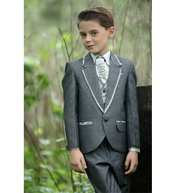 Grey Color Three Piece Suit