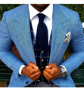 Blue Color Linen Blazer