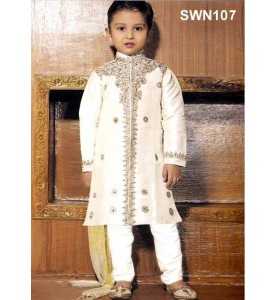 Light Cream Dupion Silk Sherwani