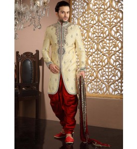 Graceful Cream Indo Western
