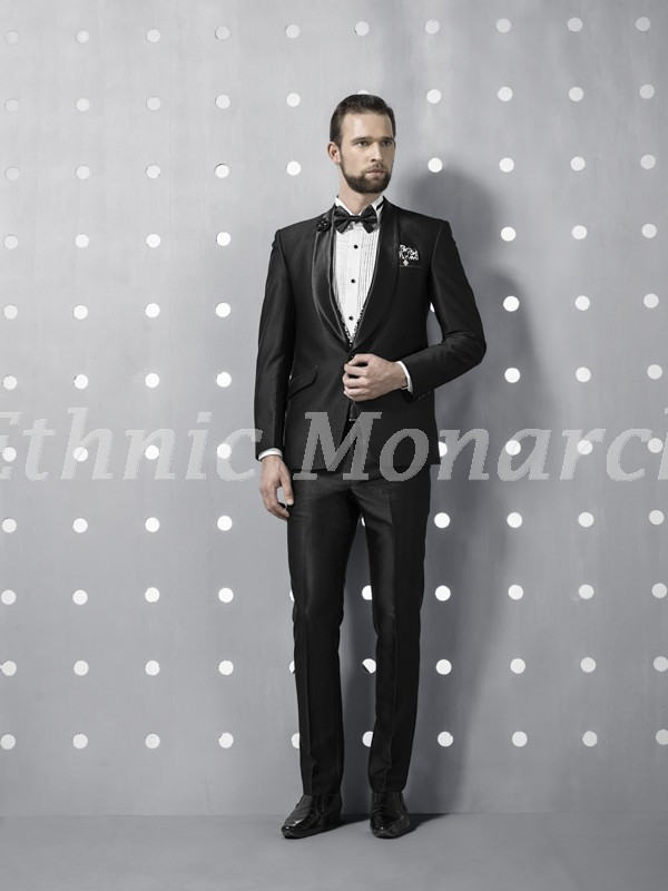 Dashing Black Five Piece Tuxedo