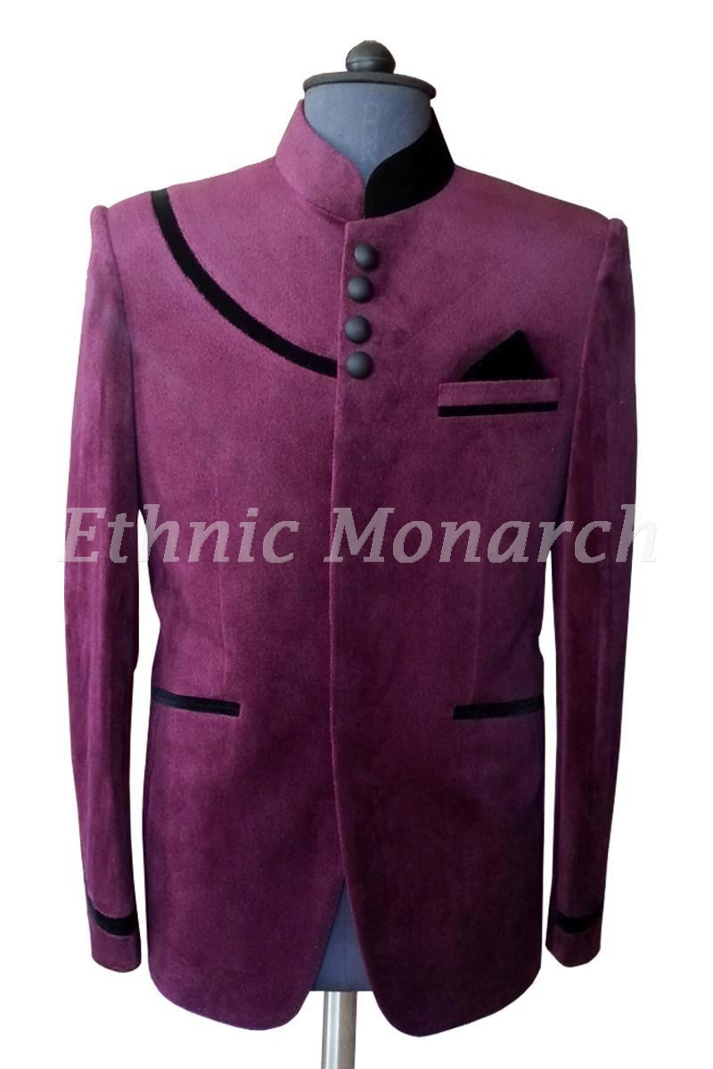 Dark Purple Velvet Coat