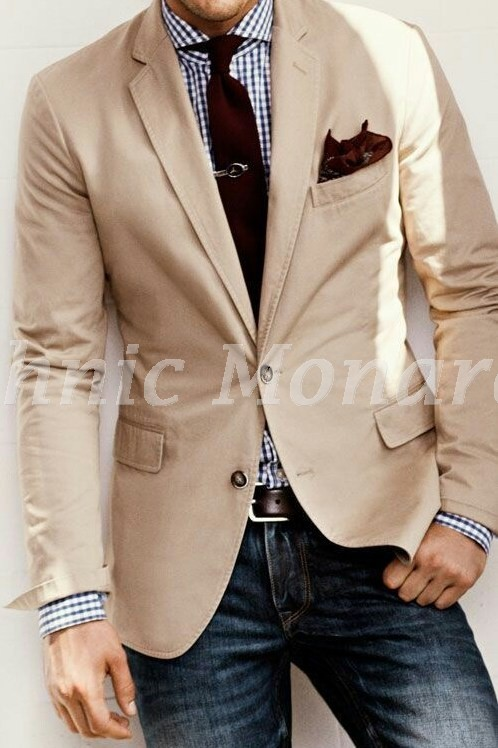 Beige Color Linen Blazer