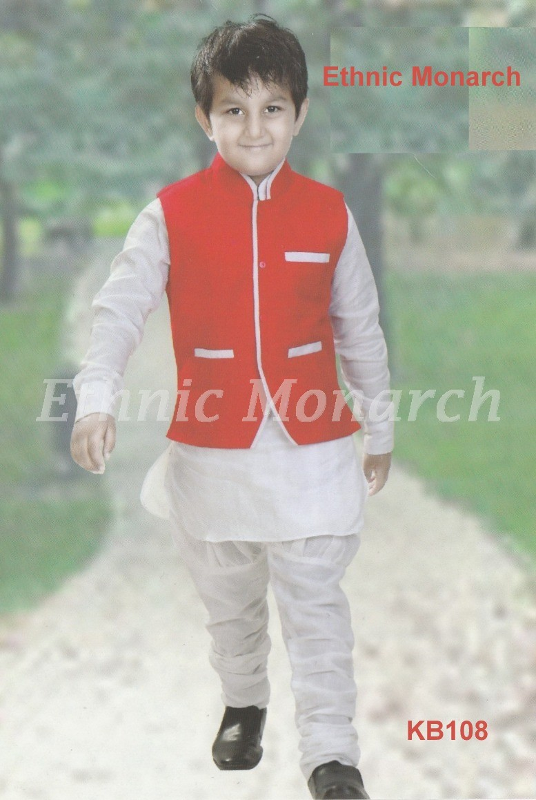 Kurta With Red Jacket