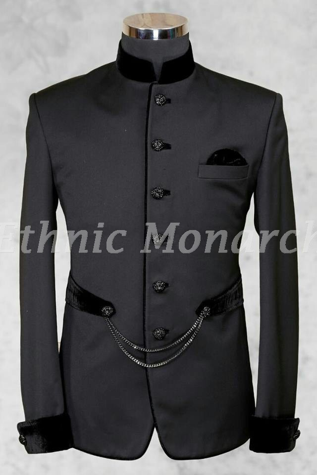 Dark Grey Designer Jodhpuri Coat