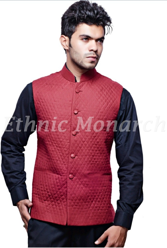 Red Quilted Modi Jacket