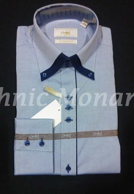 Light Blue Solid 100% Cotton Shirt