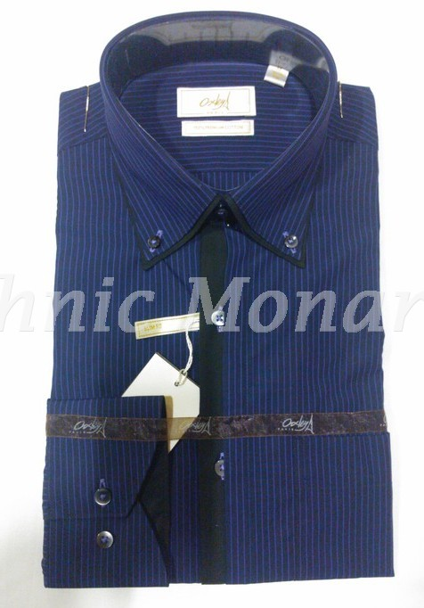 Purple Blue Stripes 100% Cotton  Shirt