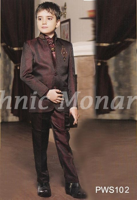 Wine Party Wear Suit