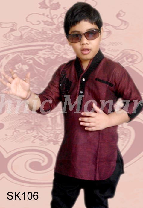 Maroon Color High Neck Kurta