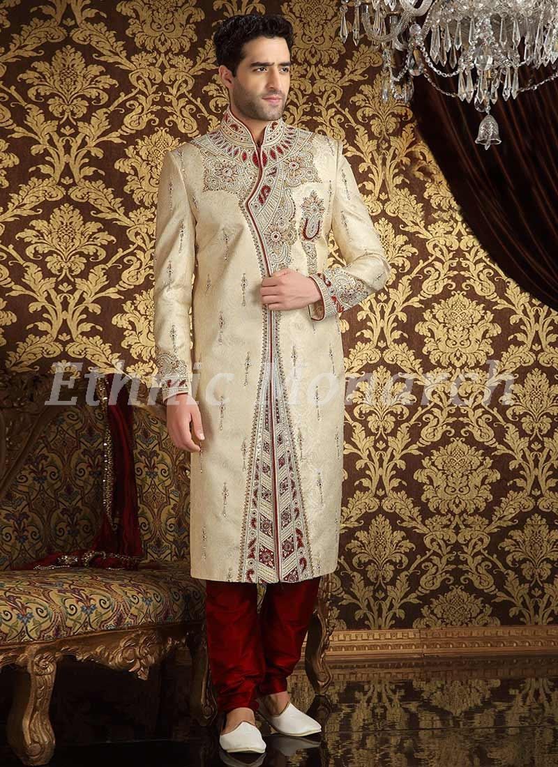 Appealing Cream Sherwani