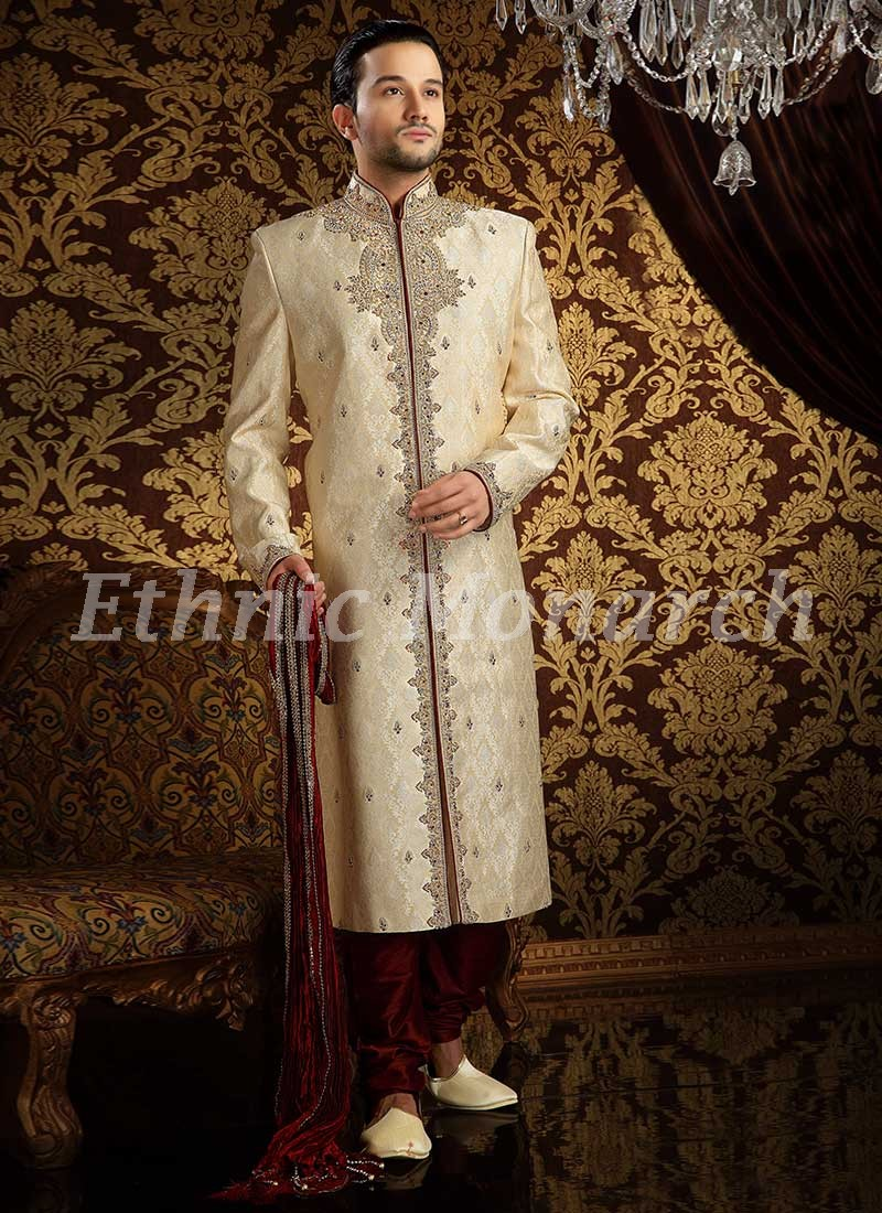 Exclusive Off White Sherwani