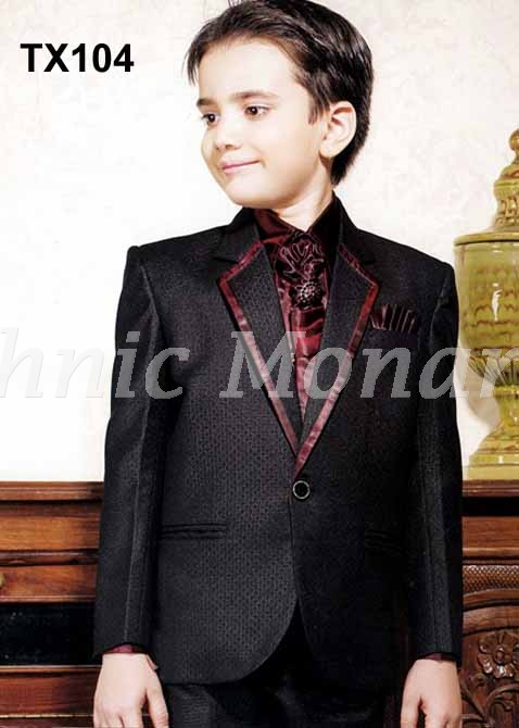 Black  Tuxedo One Button Suit