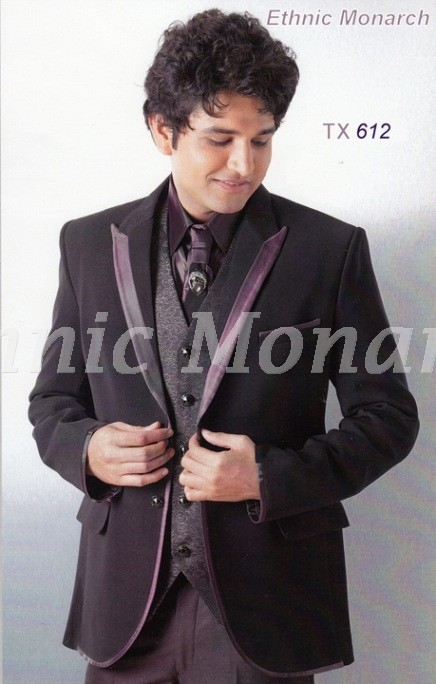 Wine Colour Five Piece Suit