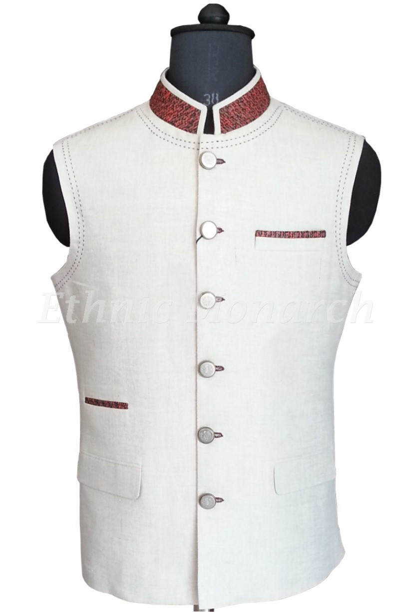 Off White Nehru Jacket