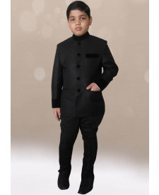 Black Color Jodhpuri Coat with Black Breeches