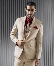 Charming Cream Five Piece Tuxedo