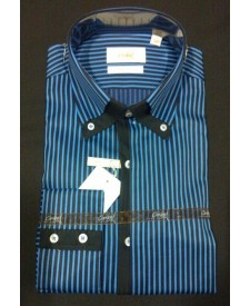 Black Blue stripes 100% Cotton Shirt