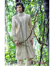 Cream Exclusive Sherwani