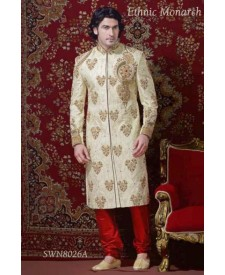 Different Style Motive Sherwani