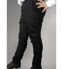 Black Trousers with Wrinkles Below Knee