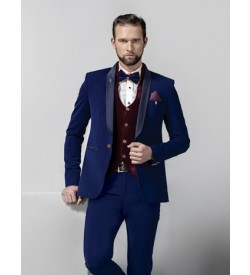 Trendy Five Piece Tuxedo In Blue