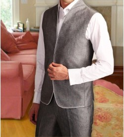 Light Grey High Neck Jacket With Trouser