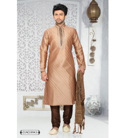 Beige Colour Kurta With Churidar