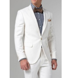 Off White Formal One Button Suit