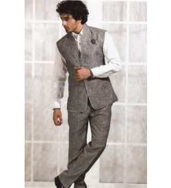 Grey WAIST COAT WITH TROUSER