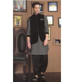 Black Jacket Kurta Salwar
