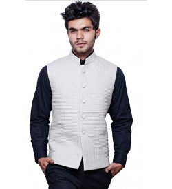 Off White Quilted Modi Jacket