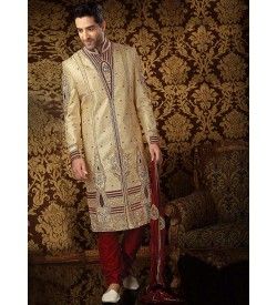 Admirable Cream Sherwani
