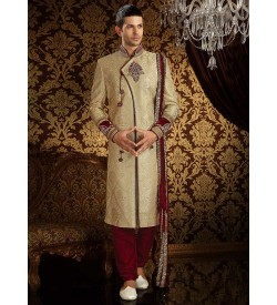 Royal Cream colour Sherwani