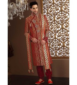 Eye Catching Silk Sherwani