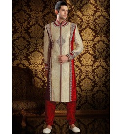 Unmatched Cream Sherwani