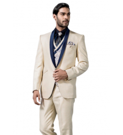 Designer Cream Five Piece Tuxedo
