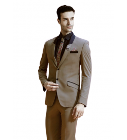Impressive Beige Suit With Tie And Shirt
