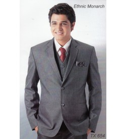 Grey Colour Five Piece Suit