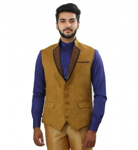 Beige Color Designer Nehru Jacket